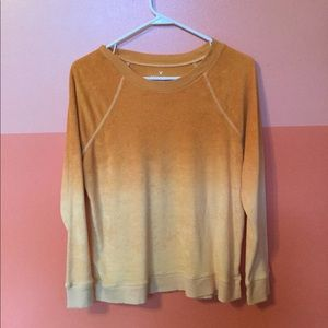 AE Soft and Sexy Orange Ombré Terry Sweater